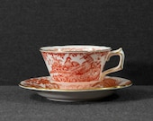 Royal Crown Derby - Red Aves - Teacup and Saucer