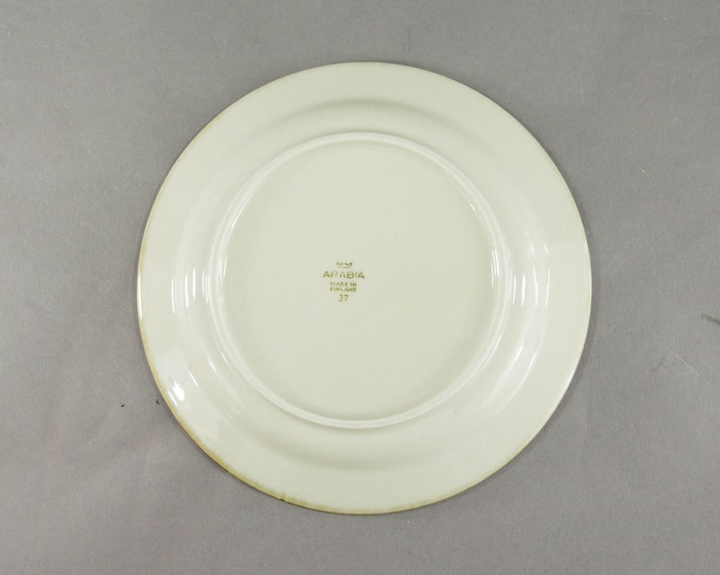 Vintage Kermansavi Finland Serving Breakfast Plate Brown Black Plate Egg Shape