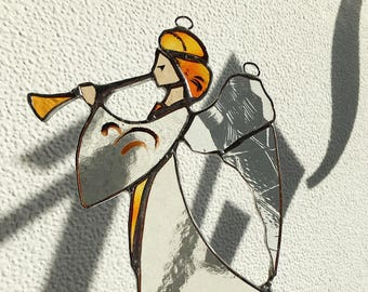 Stained glass decor. Angel