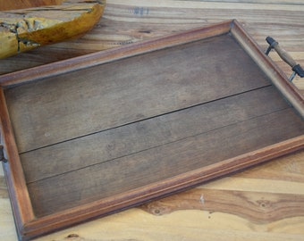 Antique Wooden Tray Country Style Handmade Home Decor