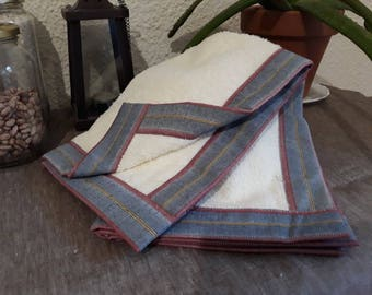 Kitchen Towel Cloth Fabric Curled Blue Red Beige