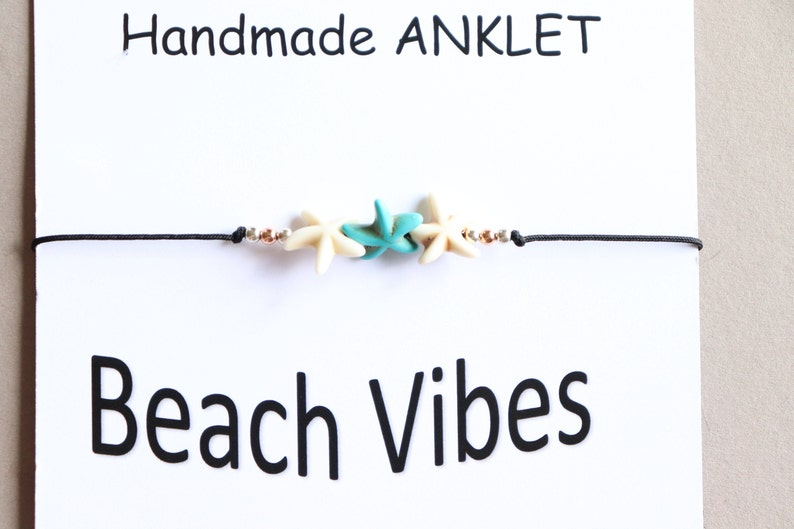 Beach Ankle Bracelet Summer Ankle Bracelet Beaded Anklet Bracelet Minimalist and Dainty Anklet Bracelet Star Fish Anklet Bracelet