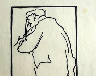 1910 wood cut by Gausden, Sidney H. E.