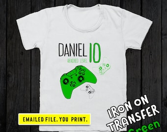 8423866738156 Video Game Birthday Shirt Iron On Transfer Gamer Gift Gaming | Etsy