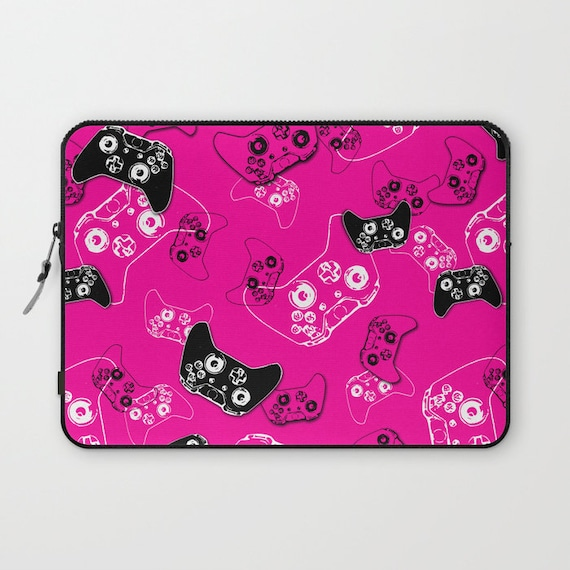 Girl Gamer Laptop Sleeve 13 Inch Or 15 Inch Pink Fabric Etsy