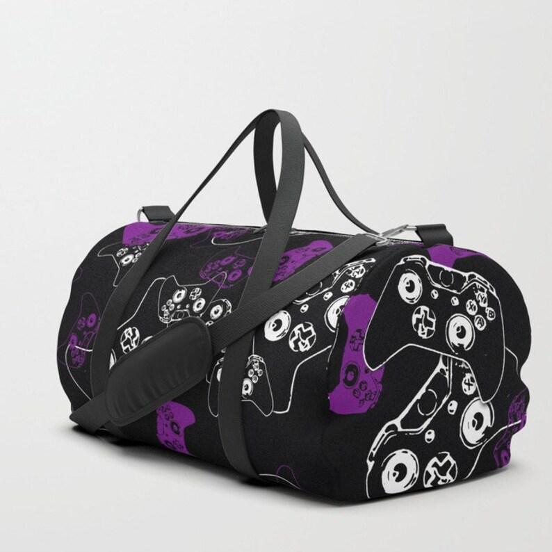 eb68261d4f Girl Gamer Duffle Bag Video Game Bag Purple Black Gym Bag