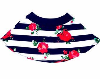 Flower Skater Skirt