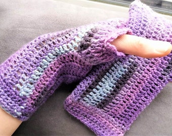 Hand crochet ladies wrist warmers