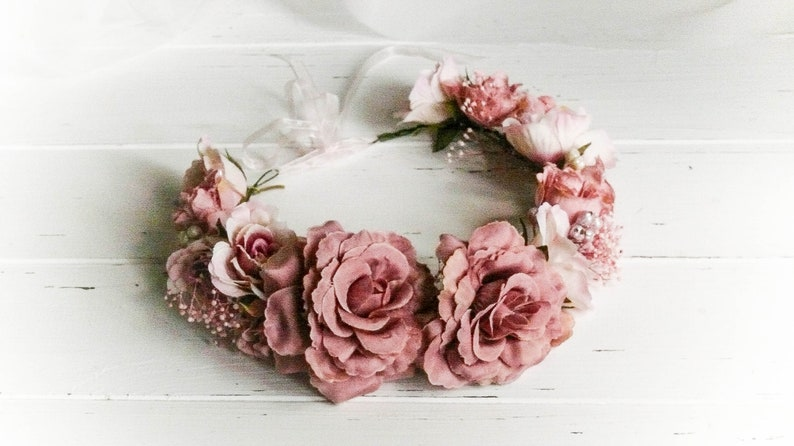 f4f0271cdf0 Flower Girl Crown Flower Crown Wedding Flower Girl