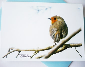 """A5 Greeting Card """"The Robin"""""""