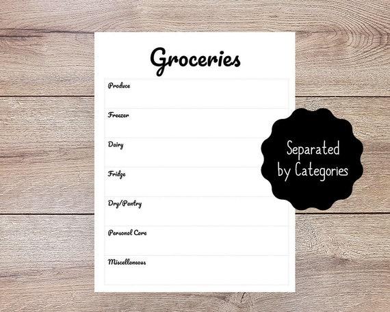 Einkaufsliste druckbare / / organisiert einkaufen Liste / / | Etsy