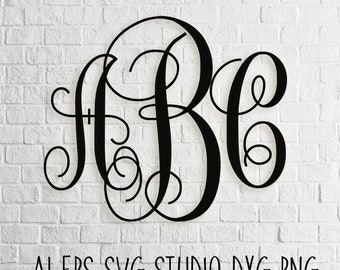Vine Monogram SVG - digital download - Vine Monogram Letters SVG - Vine monogram font - svg files - svg dxf eps png ai plt instant download