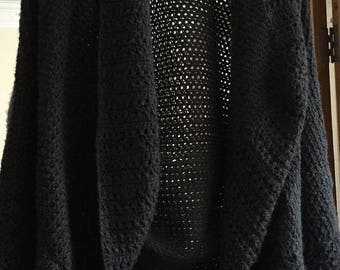 crocheted cardigan/jacket