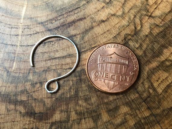 20mm Earhoops Round Nickel 10 Pack