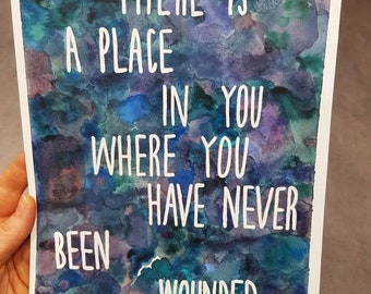 Watercolour print - Place In You