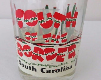 Vintage South of the Border South Carolina Rt. 95 - 9 oz. Clear Glass Tumbler