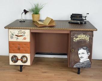 Chaise enfant bois années chaise vintage peinture fait etsy