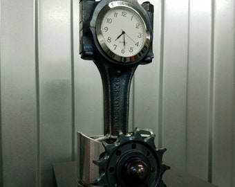 Table clock home decor piston car parts sprocket gift loft