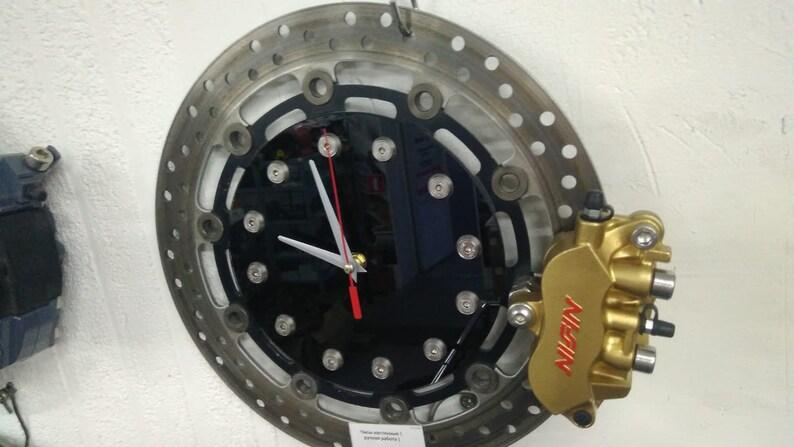 Unique disque de frein Horloge métal art mur Car Moto Part Furniture Montre automobile