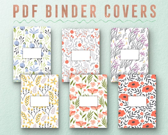 printable inserts printable covers binder insert binder covers etsy