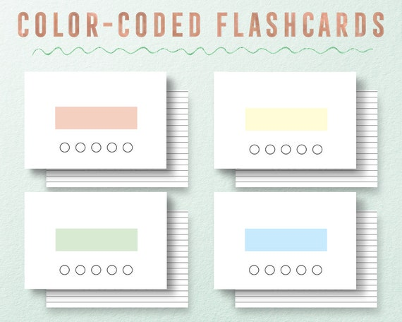 Flash cards, printable flash card, printable flashcards, study printable,  flashcards, back to school, college student, high school student