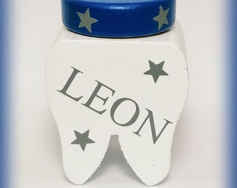 Individual Milk Tooth Box Stars Tooth Box with Name Easter Enrollment Tooth Fairy Birthday