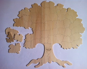 Wooden puzzle tree xl 50-60 pcs. Personalized