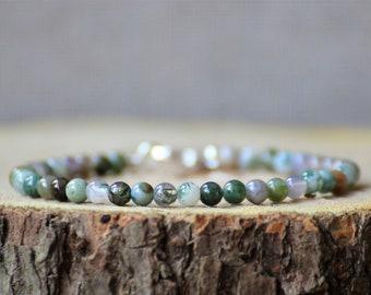 Bracelet Mosagaat, charm, bracelet woman, bracelet man, gemstone, natural stone