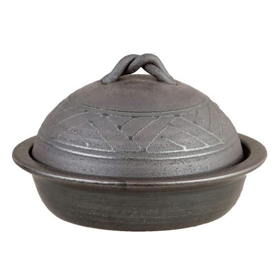 Japanese Donabe Grill Pan Black