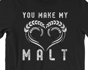 63767483 Heart Malt Funny Craft Beer Beer Drinking Gifts for Him Father's Day Gift Tee  Shirt