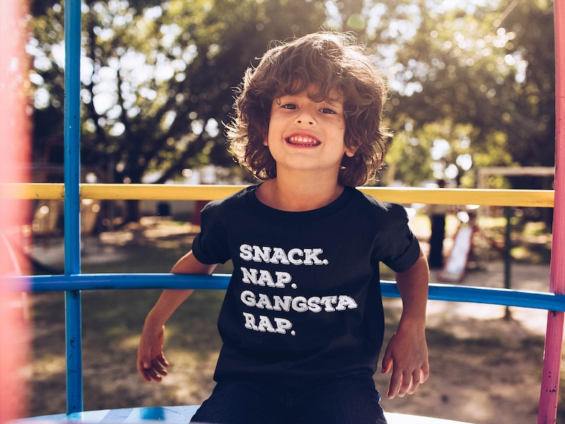 Snack-Nap-Gangsta-Rap lustige Kinder Shirt lustiges Shirt | Etsy