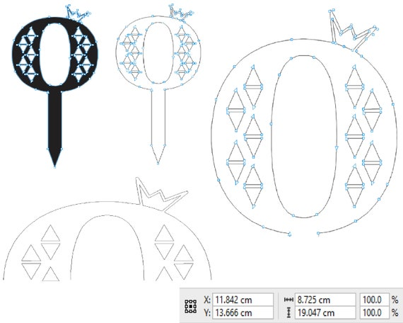 Number Cake Topper Template Birthday Decor For