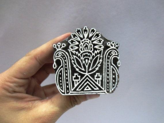 Wooden Printing Block Stamp Textile Design Handblock Indian Bird Fabric Print