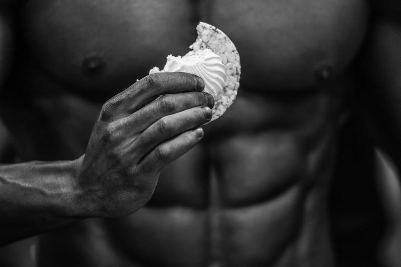 Bodybuilder On Black Background Hand Muscles Body Look Strength Energy Tension Fitness Work Out Fine Art Photography Black And White