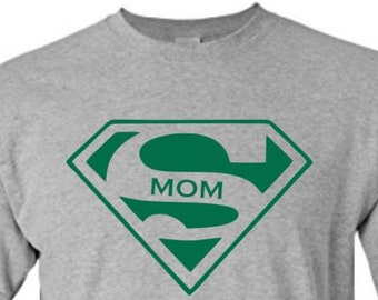 Super Mom Shirt | Pick Size & Colors | Mothers Day | Gift | Family T-Shirt