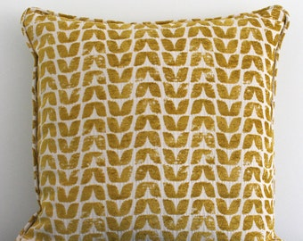 """Scandi inspired tulip pattern cotton blend cushion cover 18""""x18"""""""