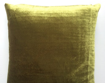 Handmade cushion in green velvet 18 inch by 18 inch