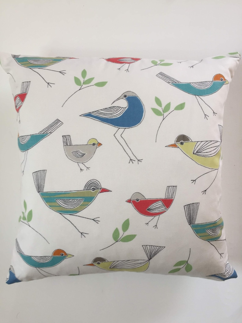 008c066a0ee Stick birds cushion cover John Lewis fabric 100% cotton