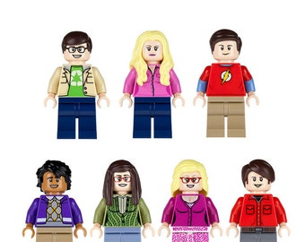 Big Bang Theory Penny,Sheldon,Raj,Bernadette,Howard,Leonard U0026 Amy Mini  Figures Fit Lego Marvel,Ninjago