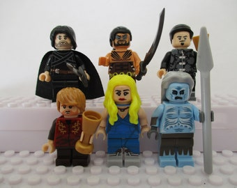 Fantasy Game Of Thrones 6 Mini Figures Drogo,Jon Snow,Tyrion Lannister,White Walker,Daenerys,Petyr Baelish fit Lego