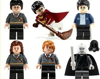Harry Potter Ron Weasley Hermione Grainger Lord Voldermort Mini Figures Fit lego Marvel,Ninjago