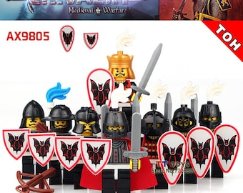 City Castle 8 Knights Mini Figures 9805 Soldiers Trooper Guards Fit lego Marvel,Ninjago