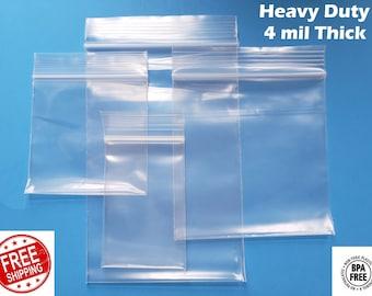 6x7 CLEAR 2MIL ZIP LOCK BAGS POLY PLASTIC RECLOSABLE SEAL MINI ZIPPER BAGGIES