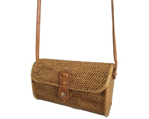 Handwoven Rattan Bali Bag Natural Ata Grass Handbag Etsy