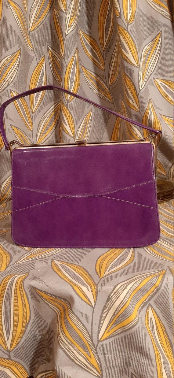 Vintage Naturalizer Handbag, Purple Handbag