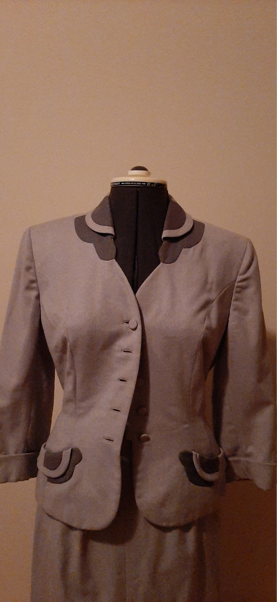 1940s Wool Suit, Wells Wool Suit, Vintage Wool Sui