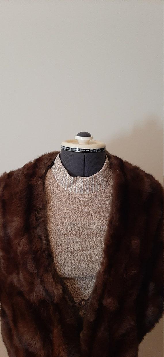 1950s Cape, Vintage Cape, Vintage Fur Cape, Vintag