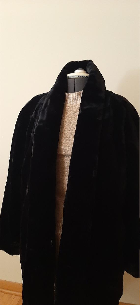 Faux Fur, Black Faux Fur Coat, Fur Jacket, Monica