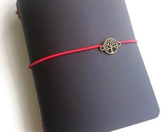 Vegan Travelers Notebook, Midori, Fauxdori cover, Vegan Journal, A6 Notebook, Travel Journal, Handmade, Refillable, Brown TN Cover, Planner