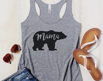 Floral Mama Bear Shirt Mama Bear Shirt BOHO Mama Bear Tshirt Mama Bear tank top